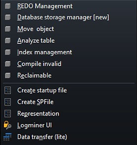 CerebroSQL - menu - db
