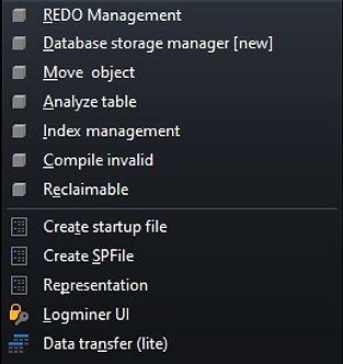 CerebroSQL - menu - db
