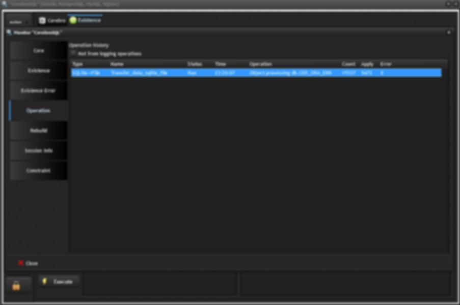 Program monitor: page operation