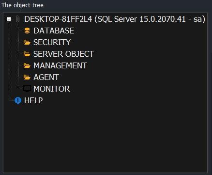CerebroSQL - tree object (MS SQL Server)