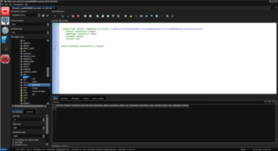 Tree USER - click Create SQL