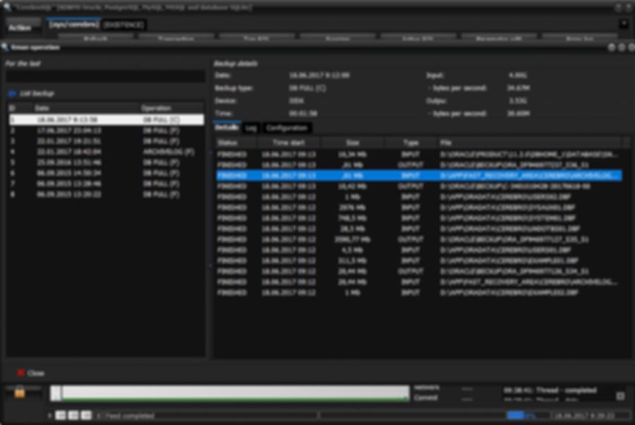 RMAN backup details information