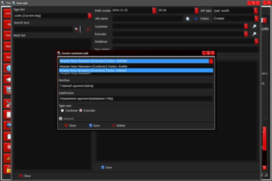 Create customer job - show deleted user info