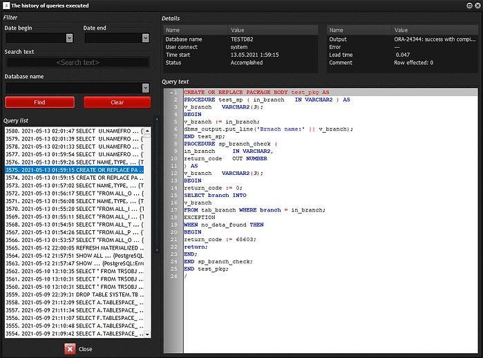 CerebroSQL: view history execute sql.jpg