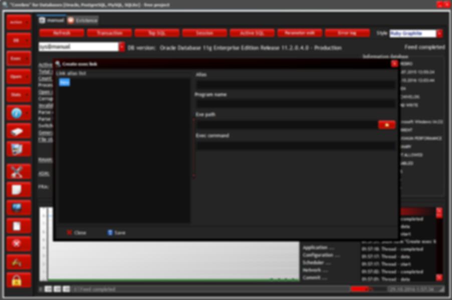 Show window create exec link