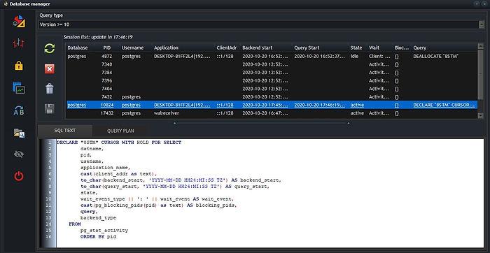 PostgreSQL - Monitor - session list.jpg