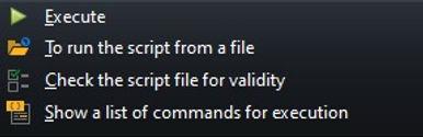 CerebroSQL for Oracle - execute menu