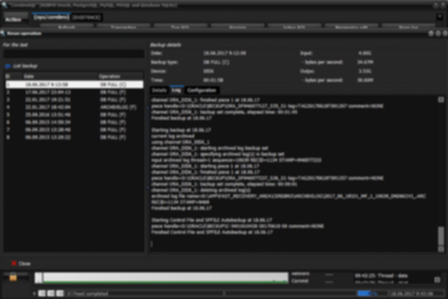 RMAN configuration info