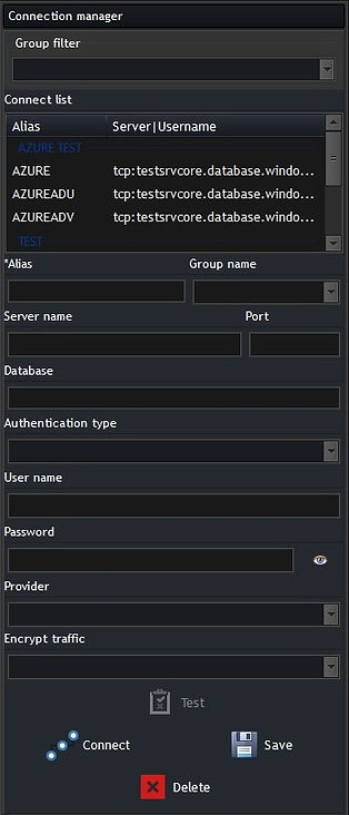 CerebroSQL - connection manager for mssql