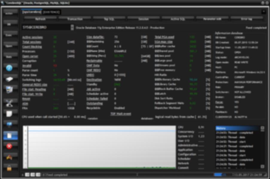 General window program CerebroSQL