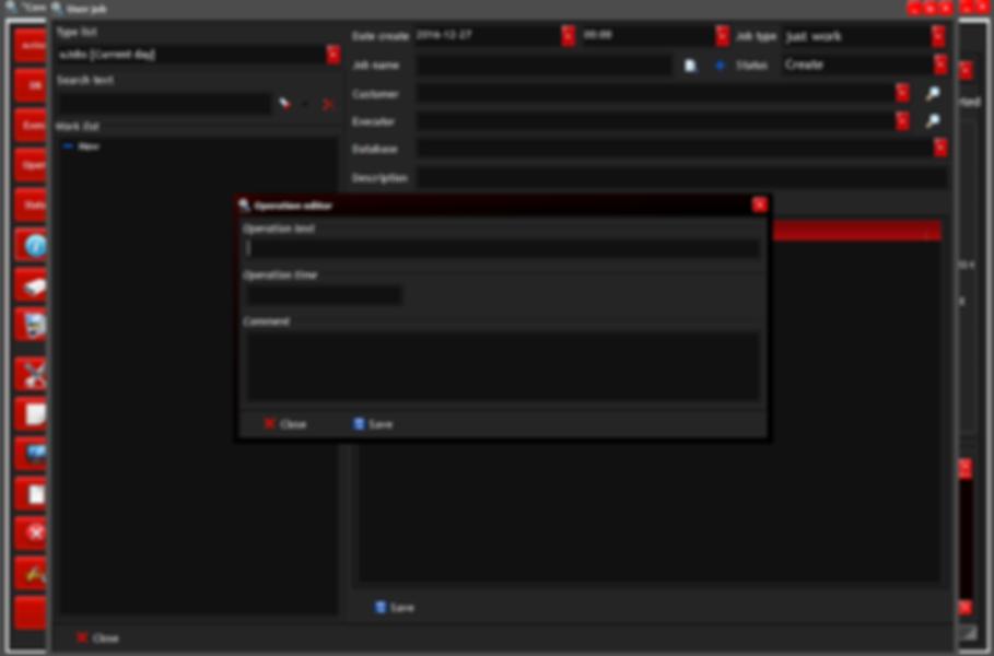 User job: show window operation