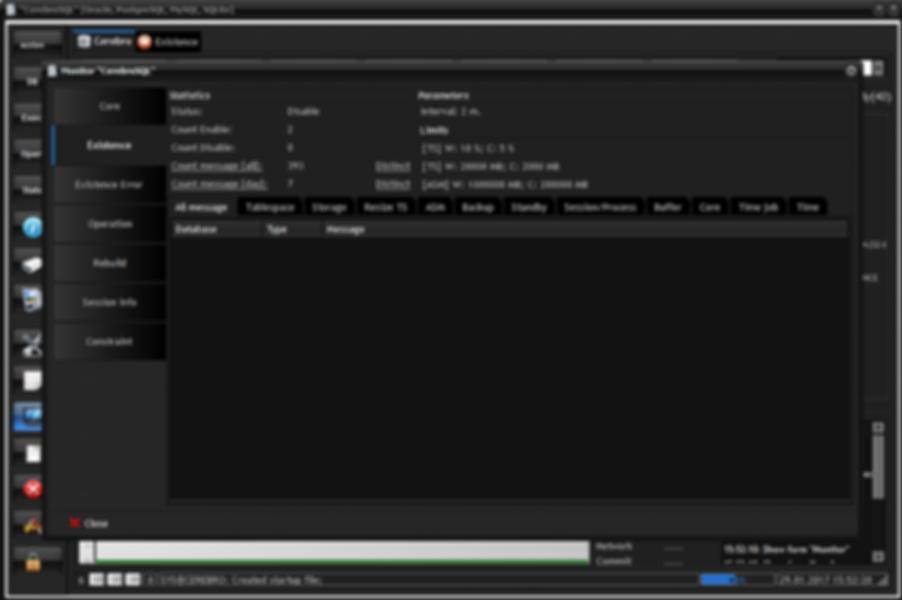 Program monitor: tab existence