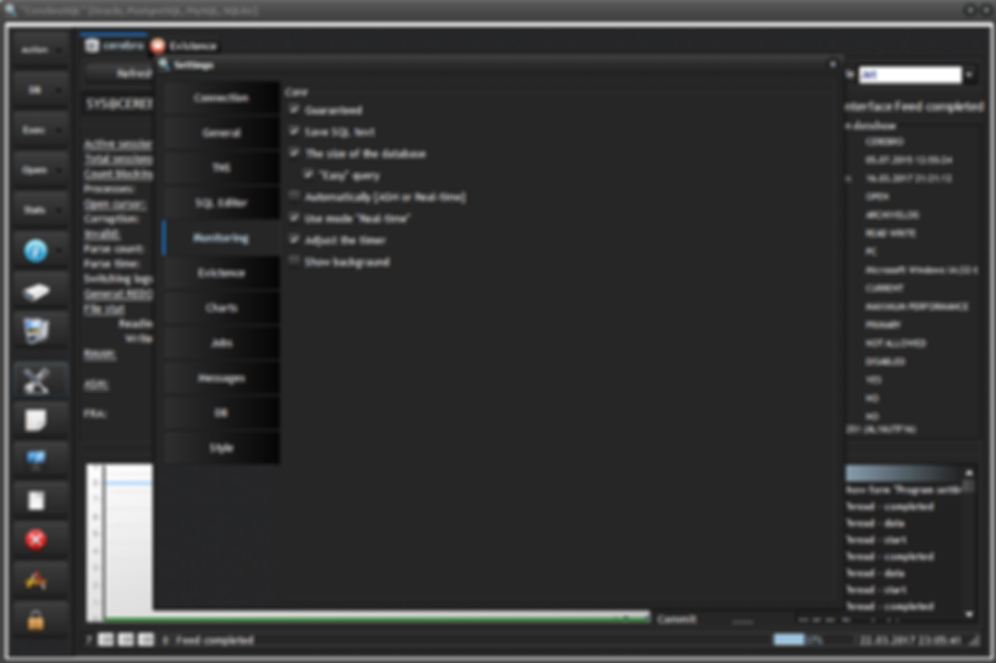 CerebroSQL settings [Page Monitoring]