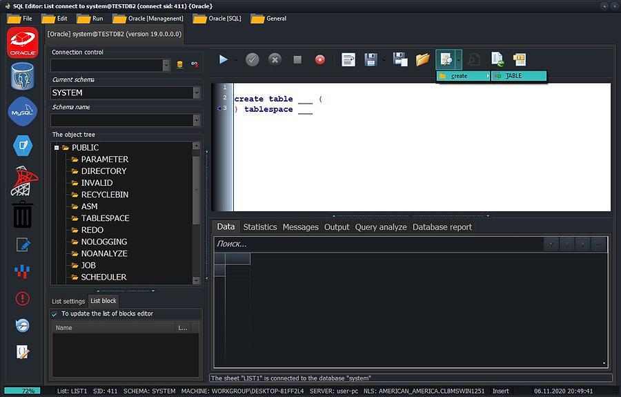 CerebroSQL - code block  add query editor