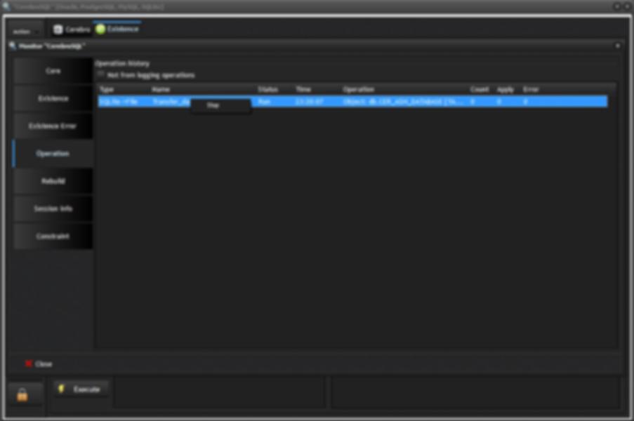 CerebroSQL monitor: page operation - stop job
