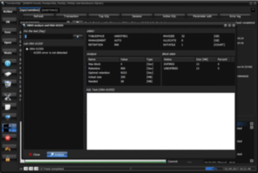 Oracle: UNDO analyze using