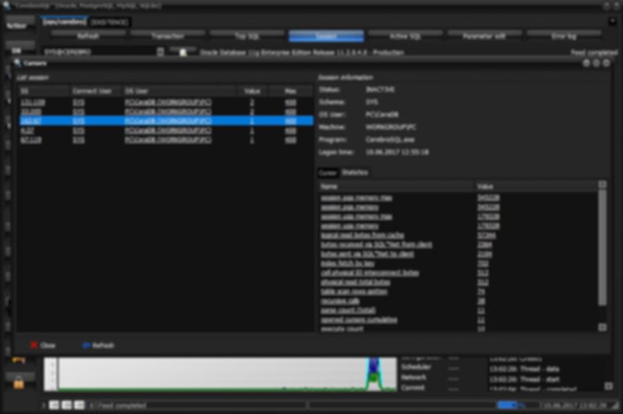 Oracle open cursor [session statistics]