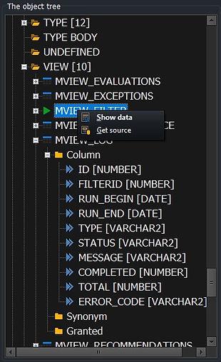 CerebroSQL - schema - view