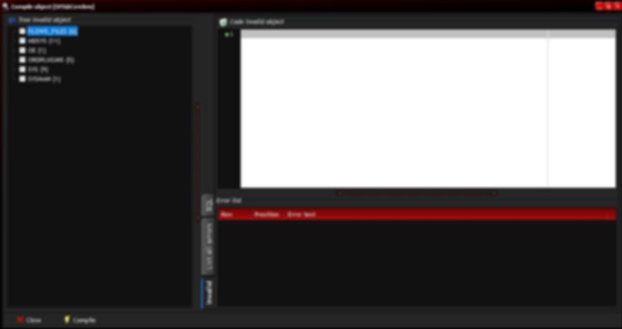 Compile invalid: window
