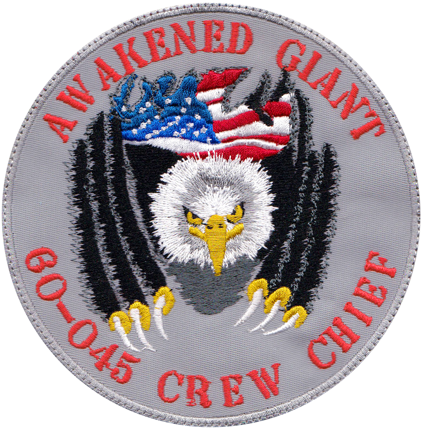 custom military eagle patch