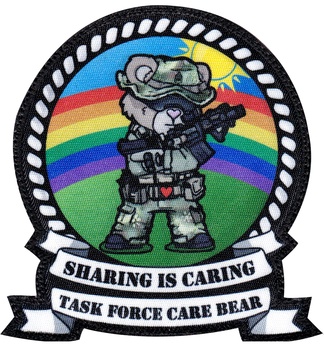 custom printed care bear military patch