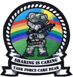 custom printed care bear military patch