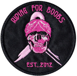 custom riding for boobs patch