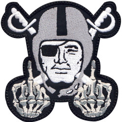custom raider middle finger patch