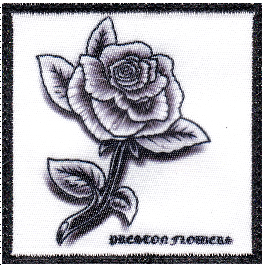 custom rose patch