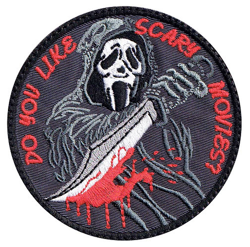 Ghost Scream Scary Movie Horror Collectible Premium Hook Back Patch