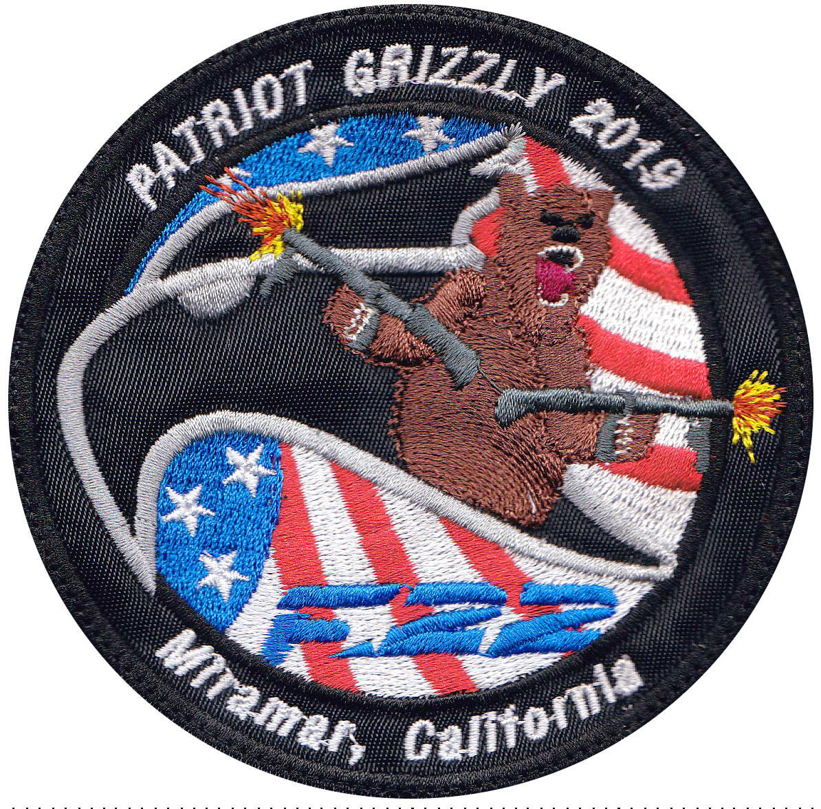 custom military bear patch