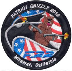 custom military bear patch
