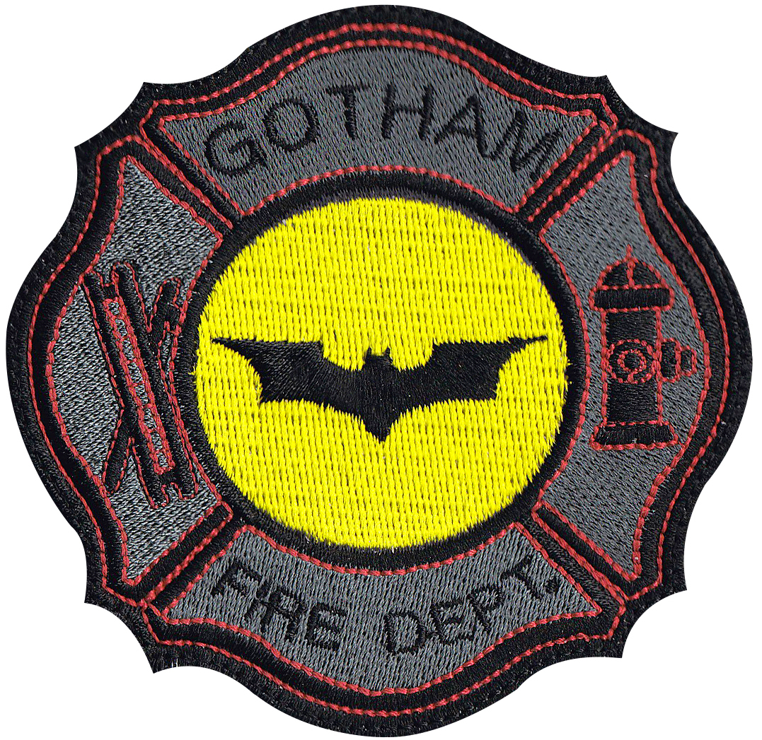 custom batman fire fighter patch