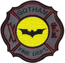 custom batman fire fighter patch