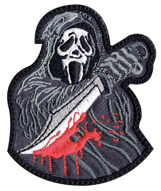 Ghost Scream Scary Movie Horror Collectible Premium Glue Back To Sew On Patch