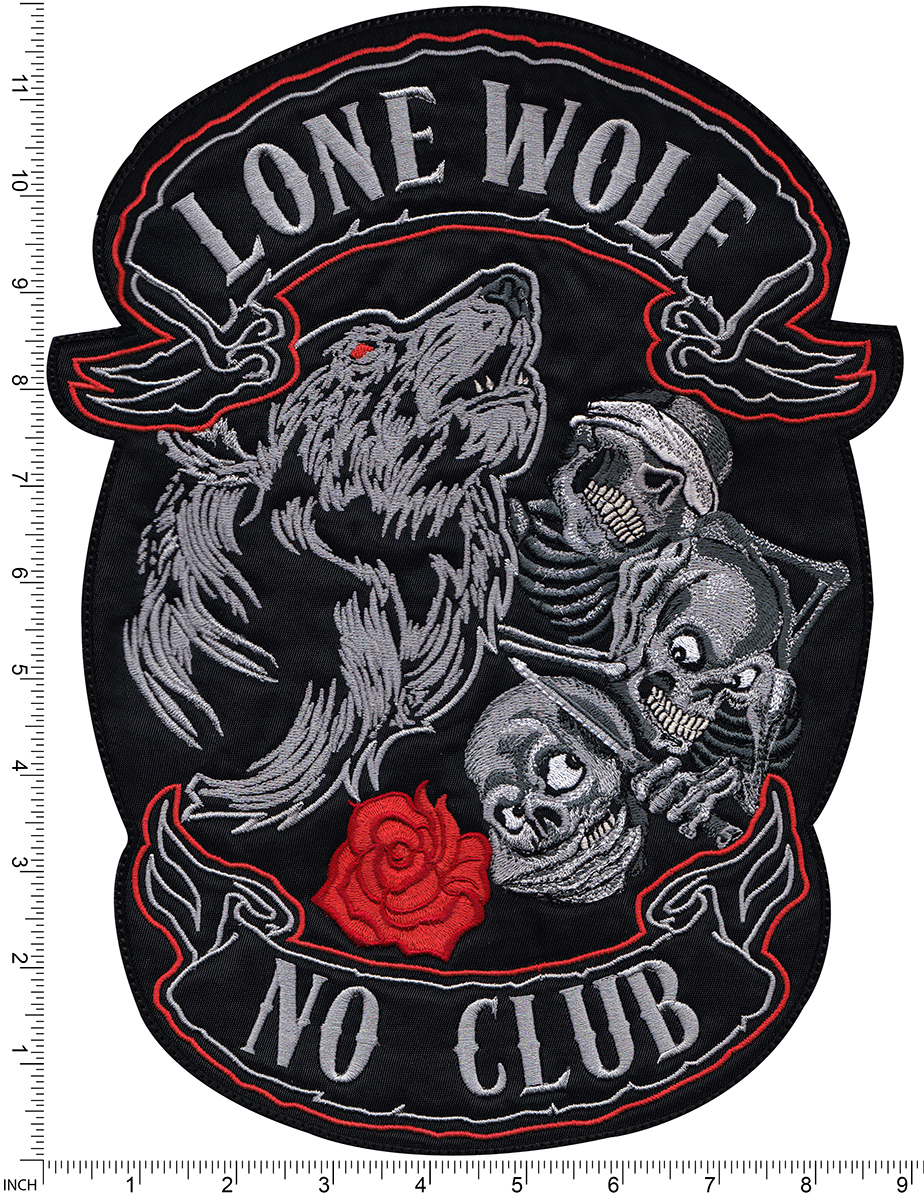 custom large lone wolf back patch