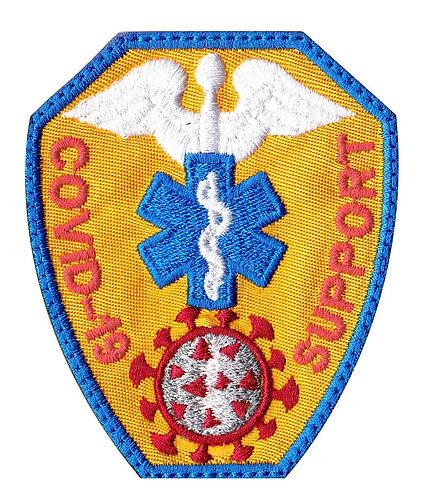 Covid-19 Medical Corona Virus Support Medic Badge - Velcro Back