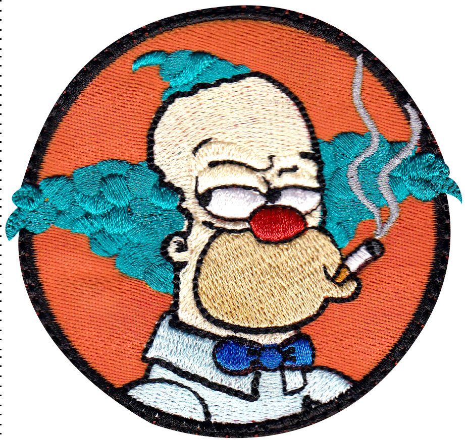 custom krusty patch