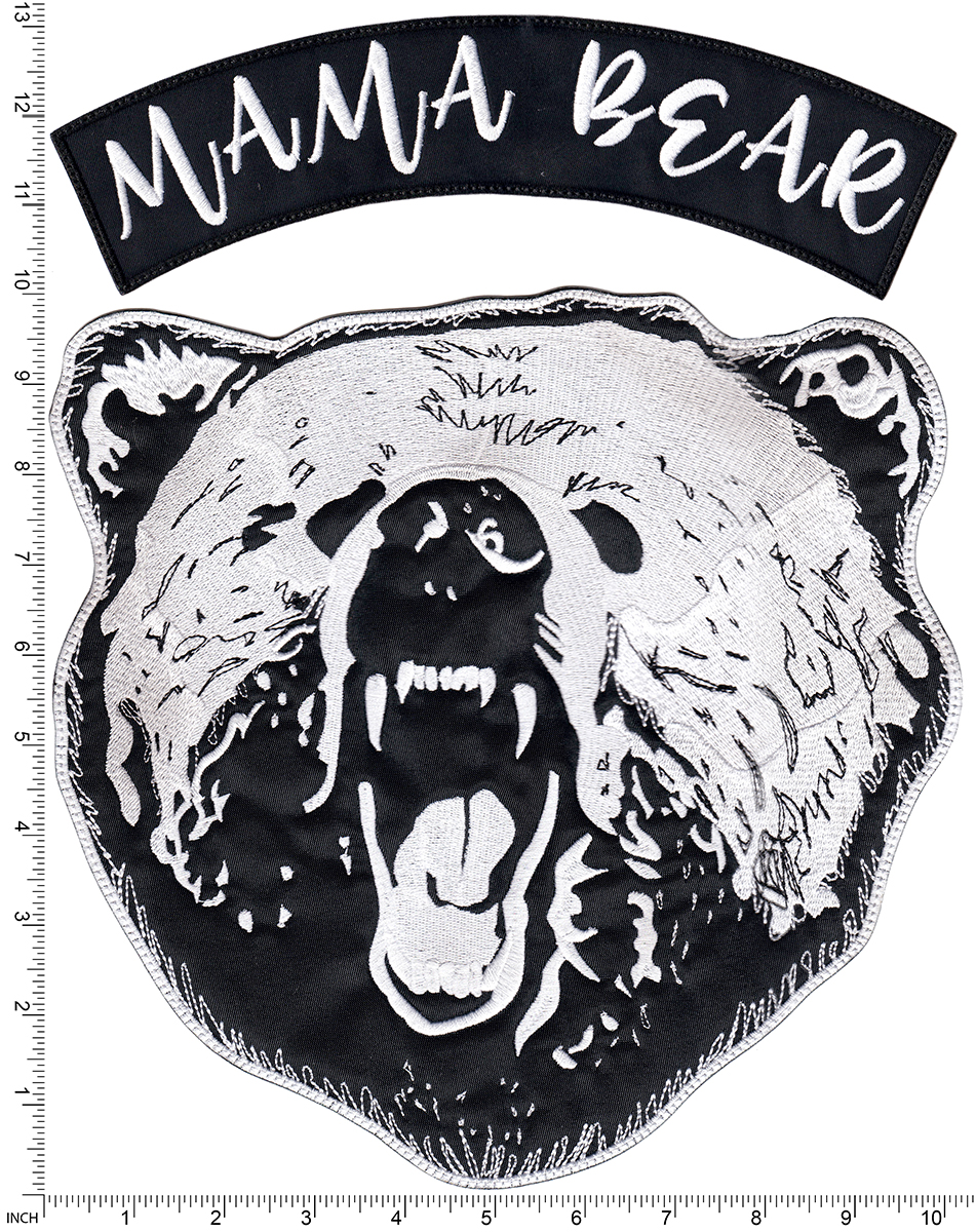 custom large bear back patch