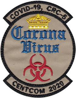 custom corona virus military patch