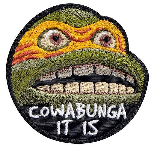 Cowabunga It Is Meme Funny Turtle Michealangelo Ninja -Velcro Back