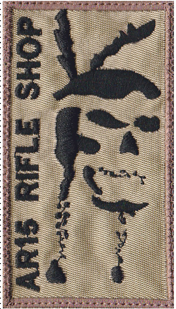 custom rifle shop patch