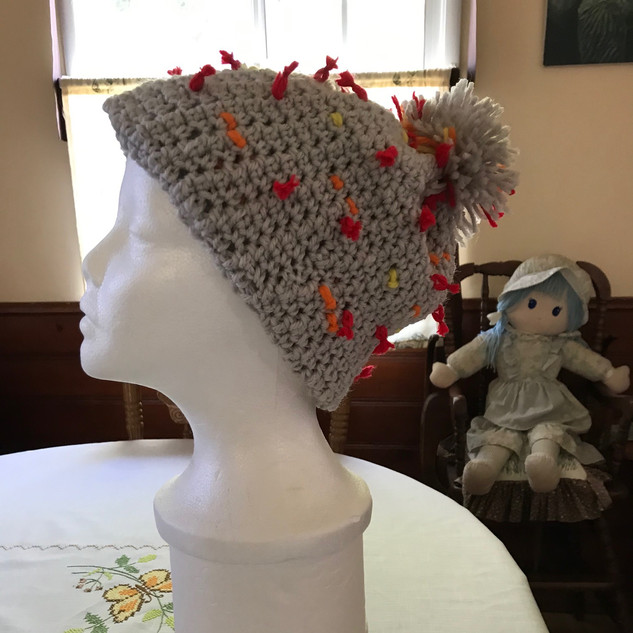 Another way to wear Cathy M's Coronavirus hat