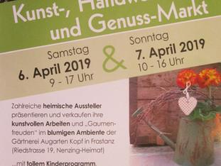 Kunst-,Handwerks- und Genuss-Markt 6.-7.4.2019
