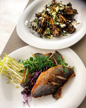 Sea Bream and Cress Salad