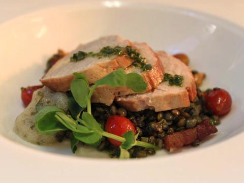 Fillet of Pork, warm Lentil Salad