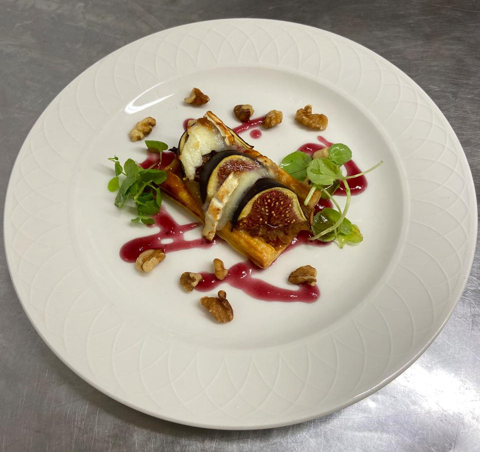 Fig and Goats Cheese Tartlet