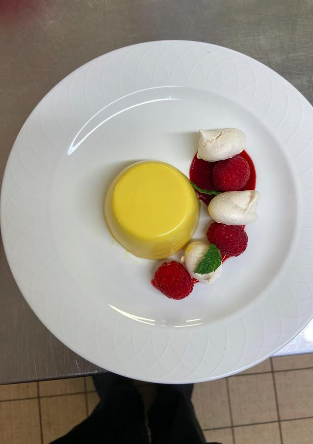 Mango and Passion Fruit Panna Cotta