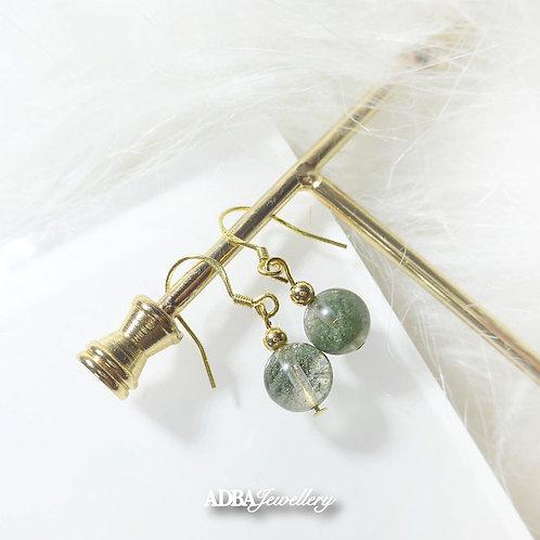 綠幽靈 Green Phantom Dangle/ Earrings