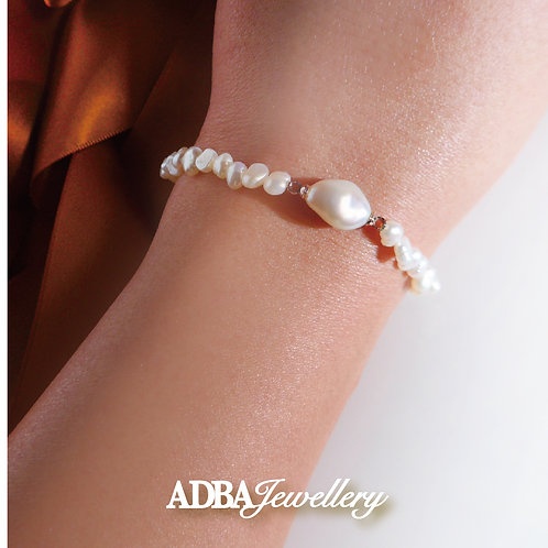巴洛克珍珠小流星手鏈Baroque Pearl Little Starry Bracelet